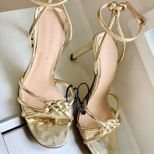 ZARA Gold High Heel Sandals